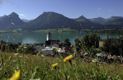 View to St. Wolfgang in the Salzkammergut in Austria