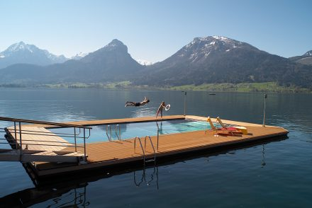 Ganzjähriges Badevergnügen im Wolfgangsee
