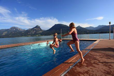 Schwimmen am See
